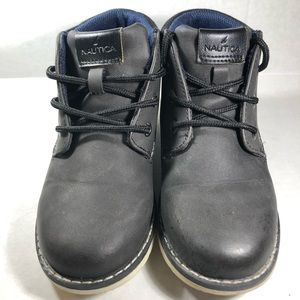 Nautica Black/Blue Little Boys Boots Size 13, EUC!